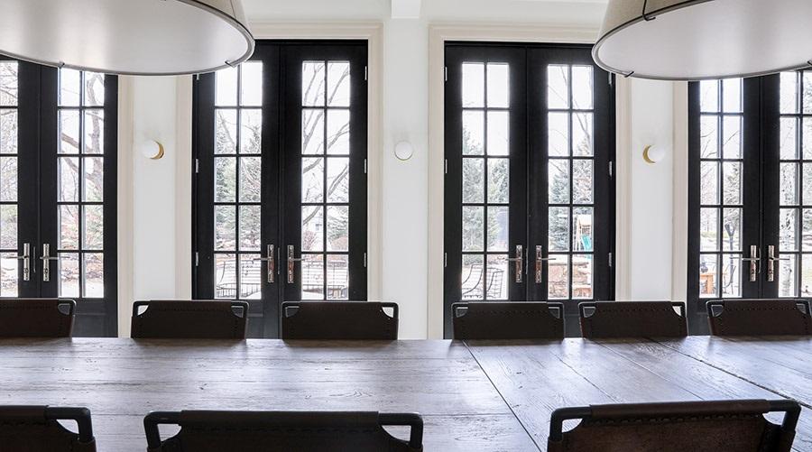 black patio doors pella