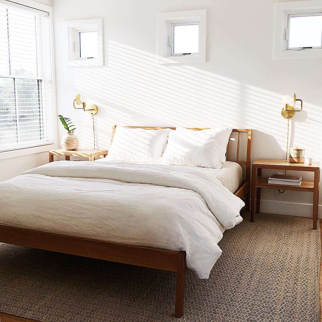 White Windows In Simple Serene Bedroom Pella