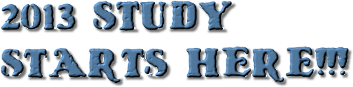 2014 STUDY  STARTS HERE!!!