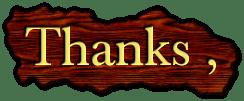 Thanks ,