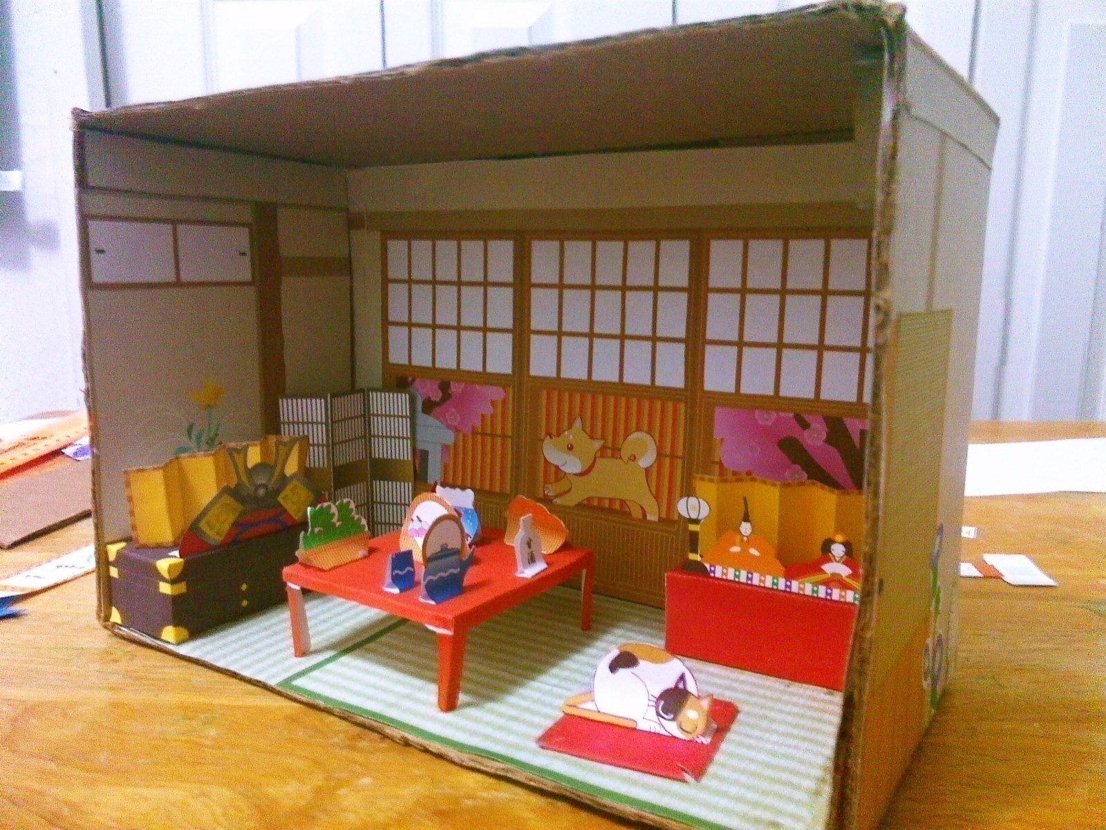 Japanese Paper House Diorama A Dolls House Decorating