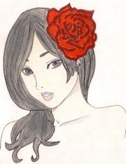 red rose manga drawing art