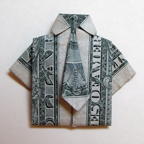 Money Origami A Piece Of Origami Clothing Origami On