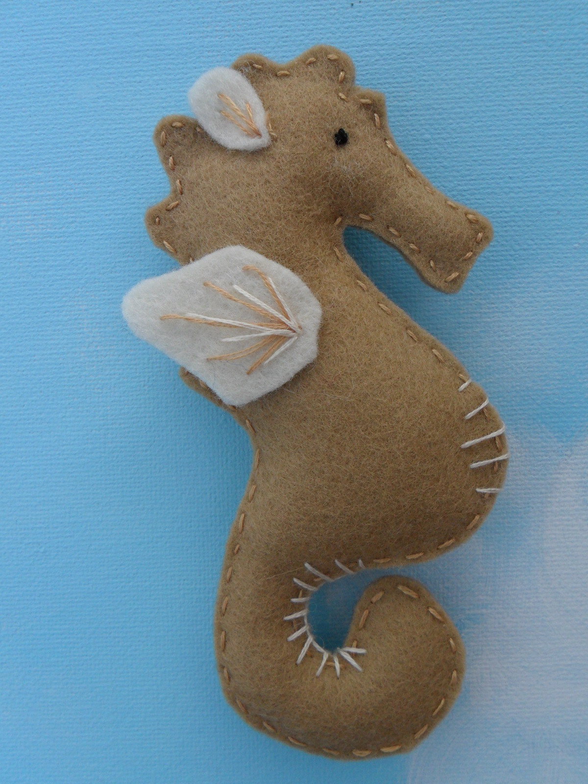 Felt Seahorses A Fabric Magnet Sewing On Cut Out