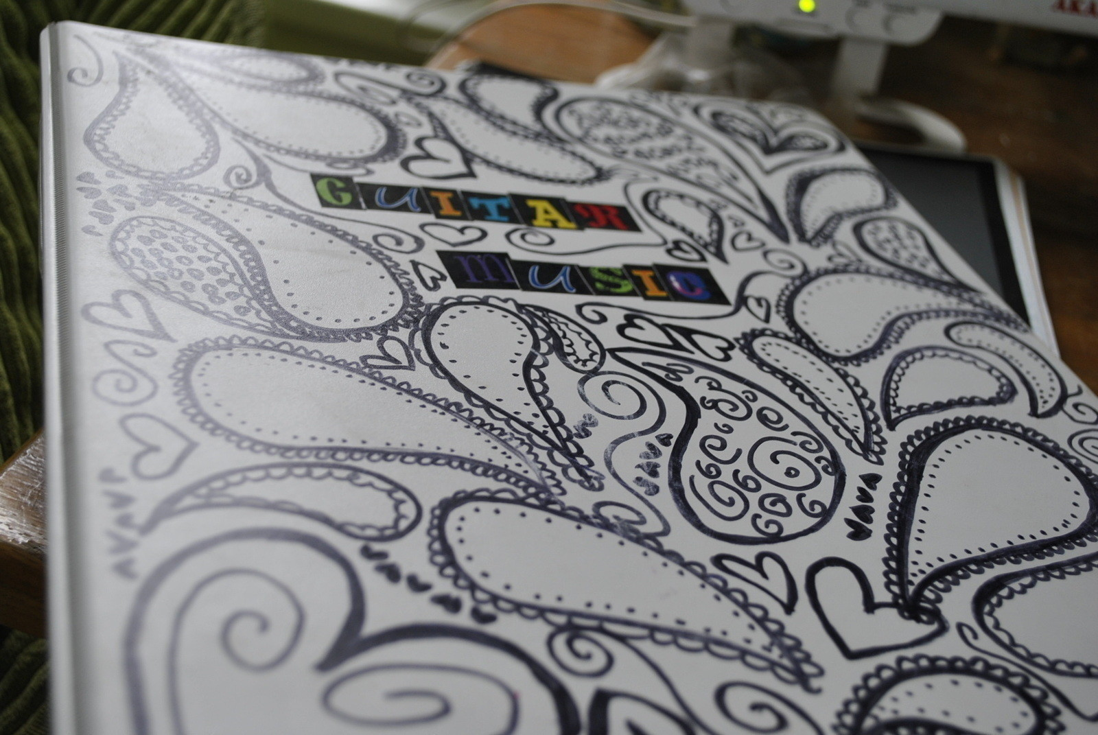3 Ring Binder Re Do  How To Draw A Swirly Drawing  Art Drawing and Decorating on Cut Out  Keep