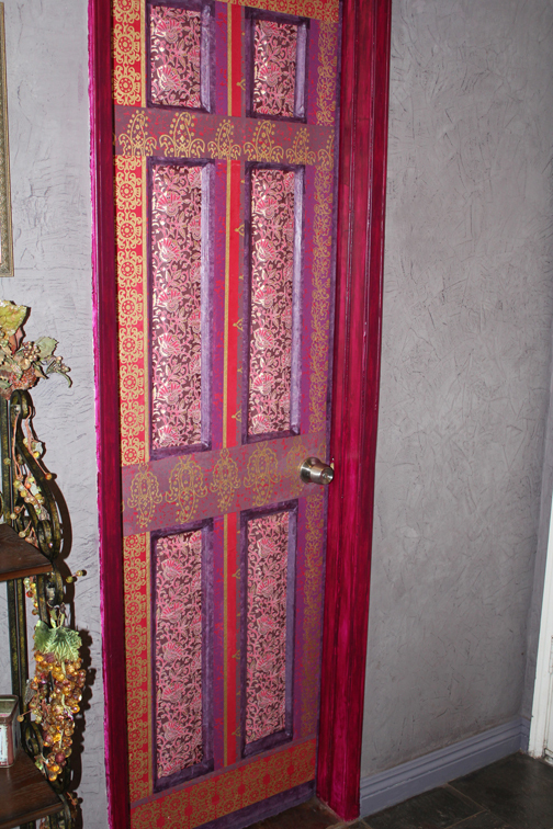 Decoupaged Door  Wall Decor  Art Decorating and