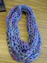 Finger Knit Scarf (Multicolour)  A Knit Scarf / Crochet ...