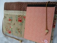 Shabby Chic Notebook Cosy  A Binder Folder  Sewing on