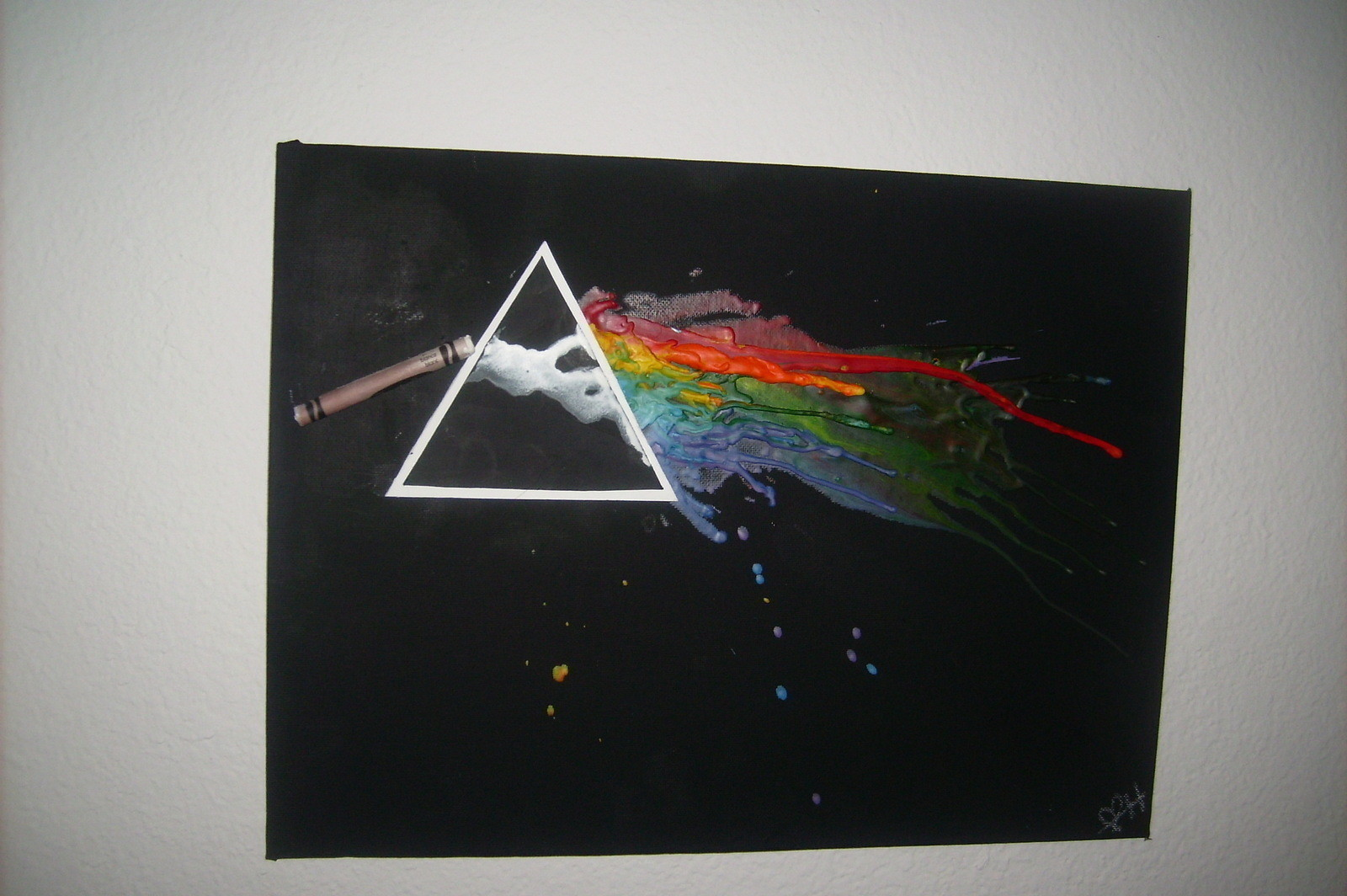 Pink Floyd Inspired Melted Crayon Art A Piece Of Melted Crayon Art Art Melting And