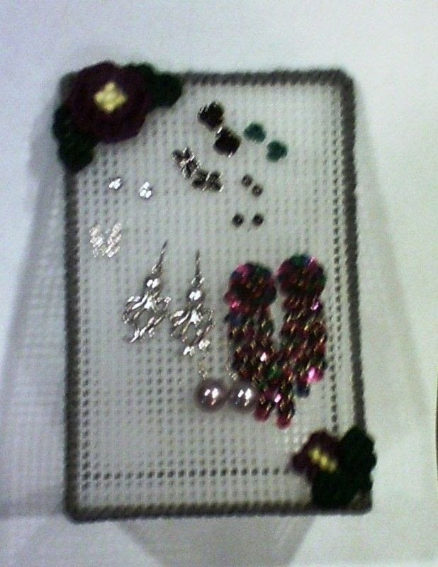 Plastic Canvas Earring Holder An Earring Hanger Needlework And Yarn Craft On Cut Out Keep