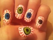 eyeball nail art paint