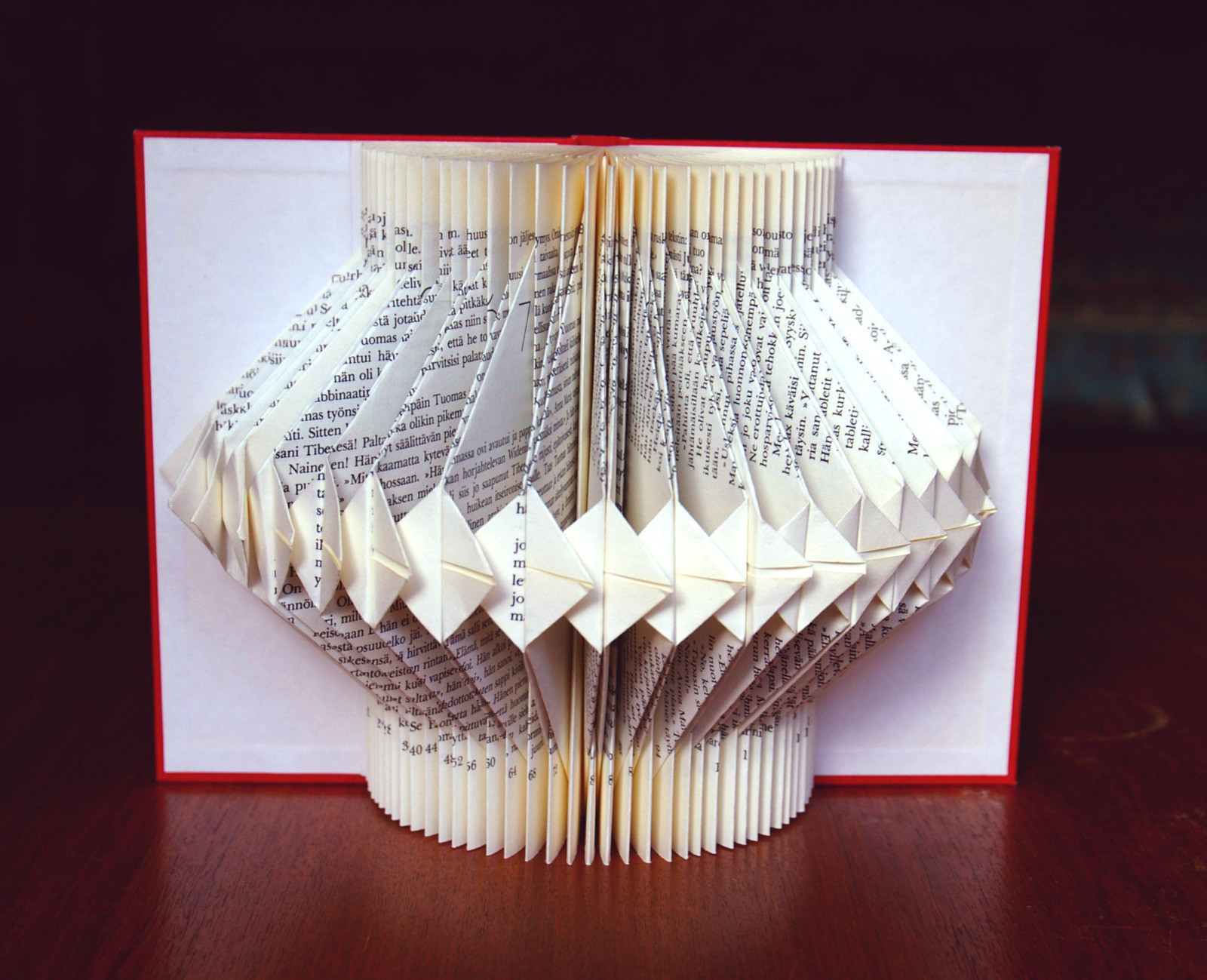 Book Decorative Item A Piece Of Book Art Papercraft And Paper Folding On Cut Out Keep