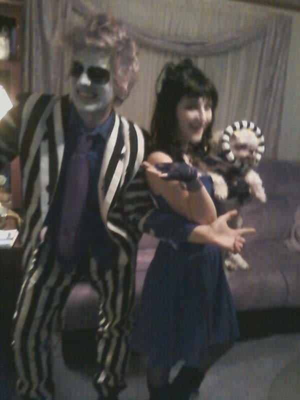 Beetlejuice Lydia And The Sandworm  A Full Costume  Spray Painting Hair Styling and MakeUp