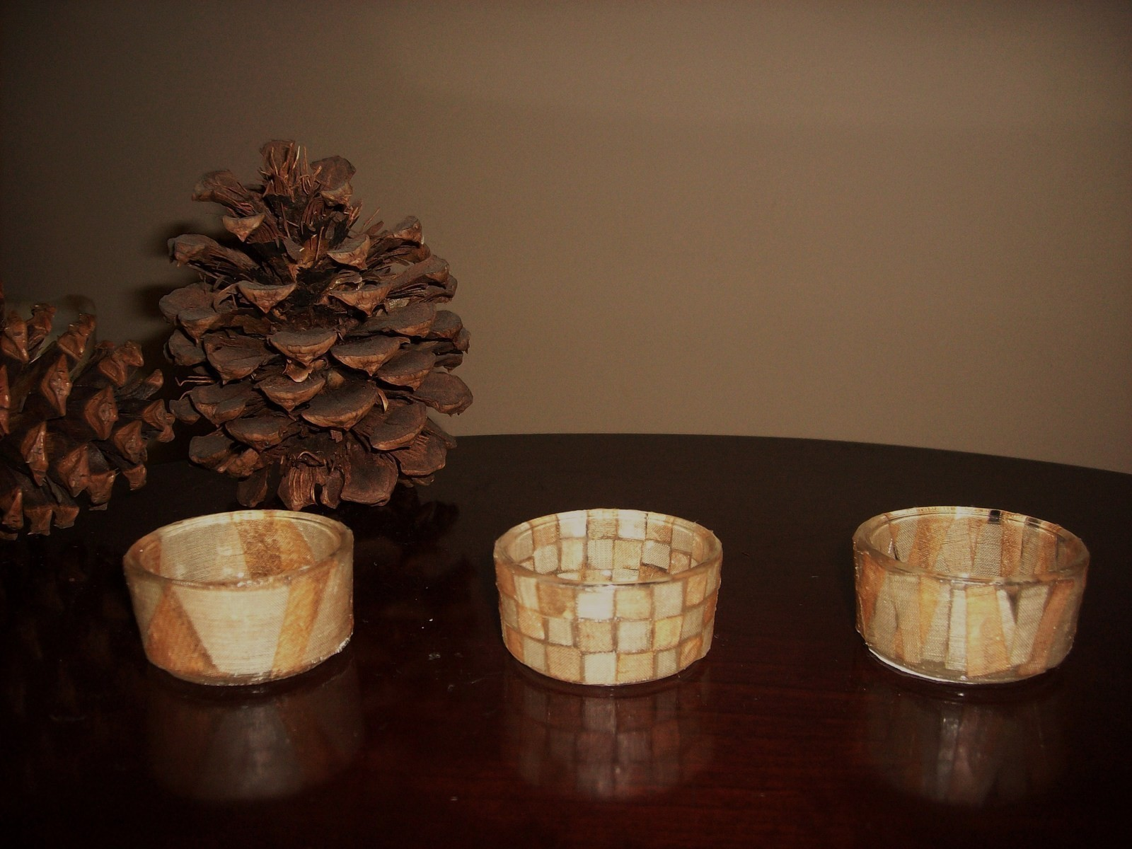 Modge Podge Tealight Holders  How To Make A Votive  Candle Holder  Construction Decorating
