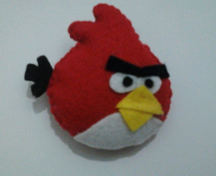 Angry Bird Felt Doll  A Bird Plushie  Sewing on Cut Out