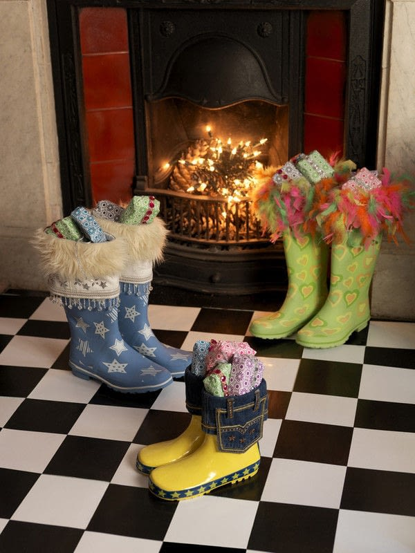 Wellington Boot Christmas Stockings  How To Make A Christmas Stocking  Decorating and