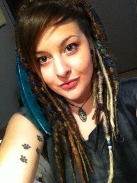 Brown And Blue Synthetic Dreads A Dreadlock Fall