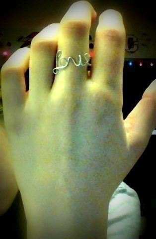 Love Ring  A Wire Ring  Creation by Tiffany Marie