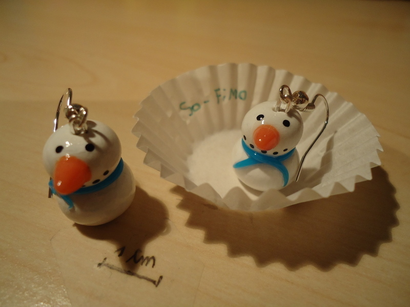 Snowman Earrings Polymer Clay How To Sculpt A Set Of Clay Character Earrings Jewelry