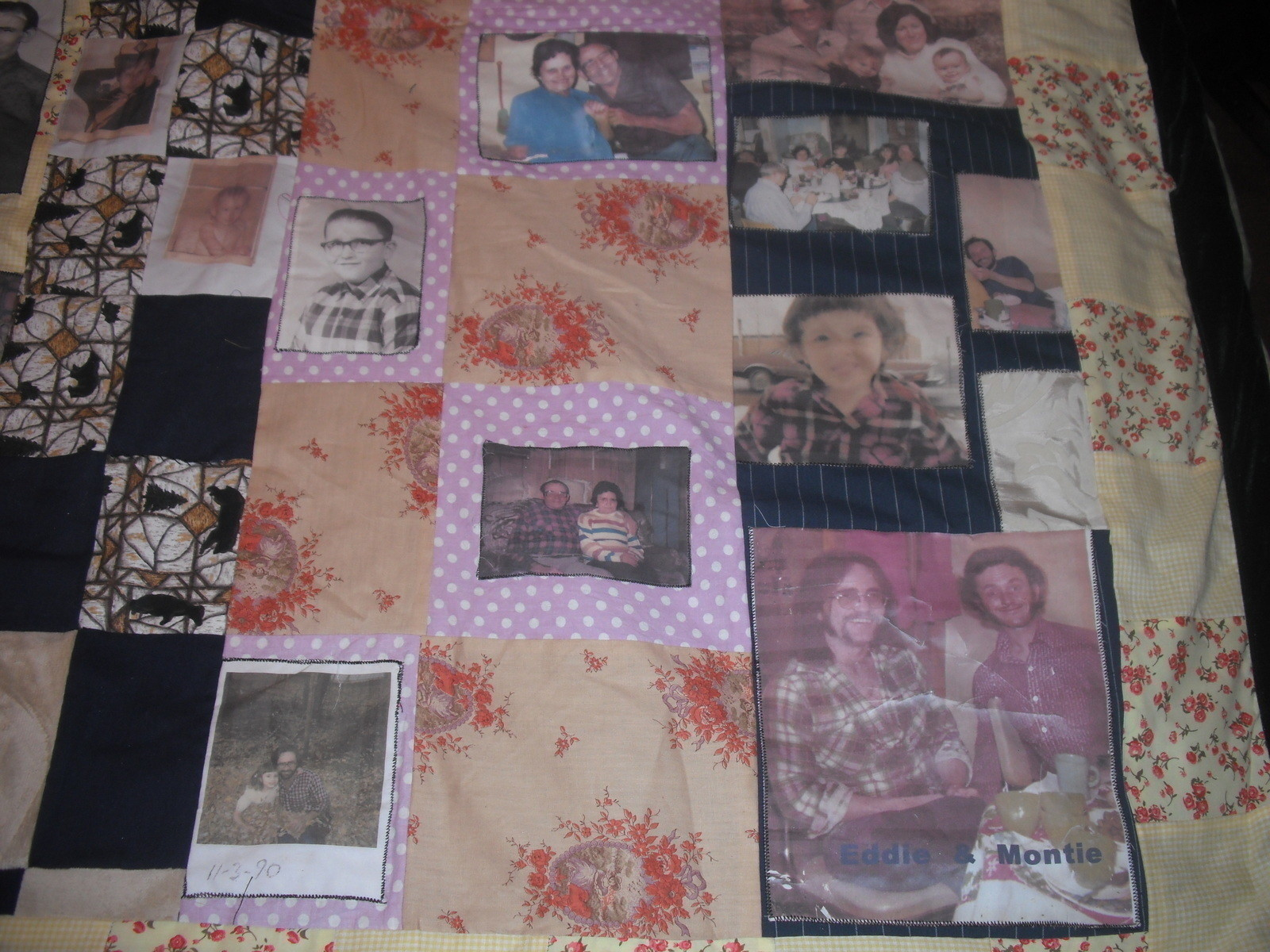 Family Memory Blanket  A Patchwork Quilt  Art Photography and Computer Art on Cut Out  Keep