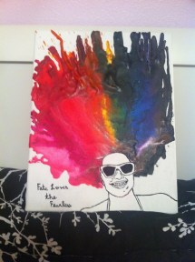 Melted Crayon Portrait Create Piece Of