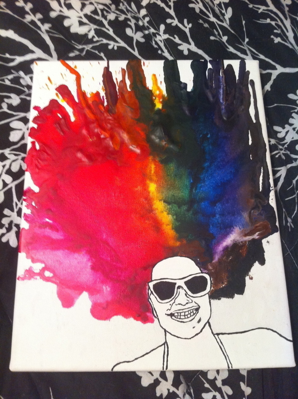 Melted Crayon Portrait  How To Create A Piece Of Melted Crayon Art  Art Drawing and