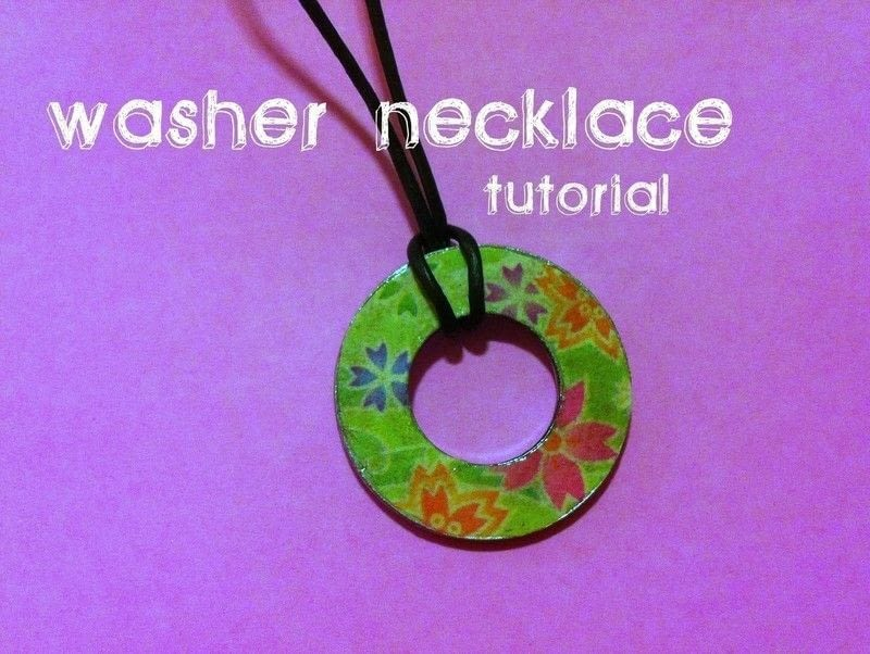 Washer Necklace How To Make A Washer Necklace Jewelry