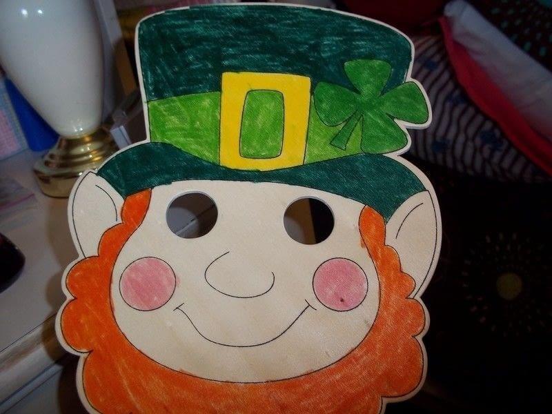 Leprechaun Mask A Mask Decorating And Embellishing On