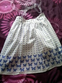 Summer Skirt To Cute Apron!  How To Make A Half Apron ...