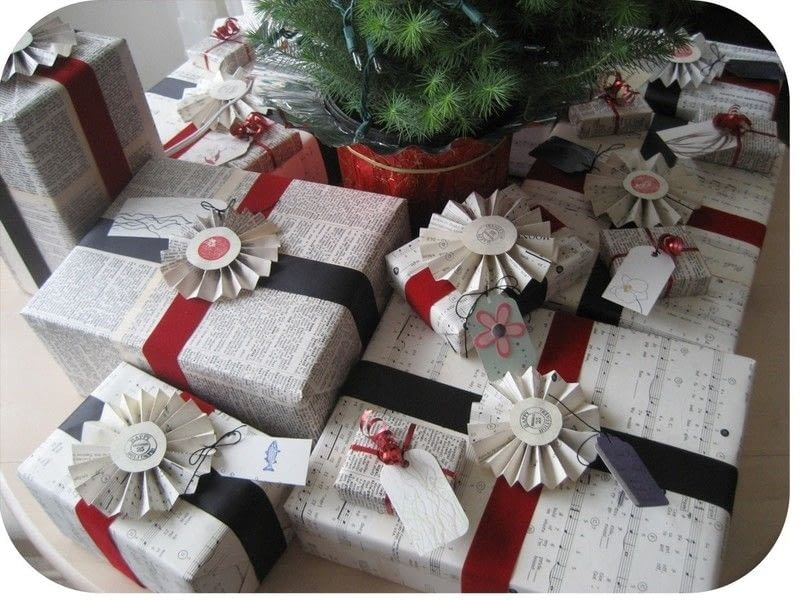 Recycled Book Gift Wrap Gift Wrap Decorating And