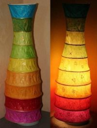 Tissue Paper Lamp  A Floor Lamp  Papercraft on Cut Out ...
