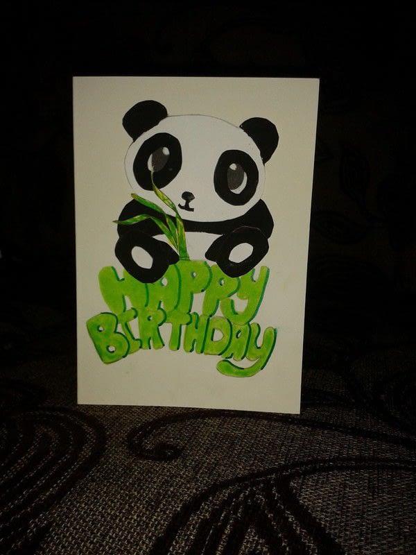 Panda Birthday Card · A Greetings Card · Cardmaking On Cut