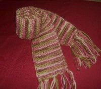 Loom Knit Scarves  A Stripy Scarf  Knitting on Cut Out ...