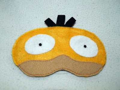 Psyduck Eye Mask · A Sleeping Mask · Sewing on Cut Out ...