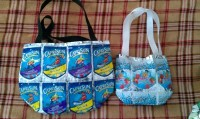 Capri Sun Purse  A Recycled Bag  Sewing on Cut Out ...