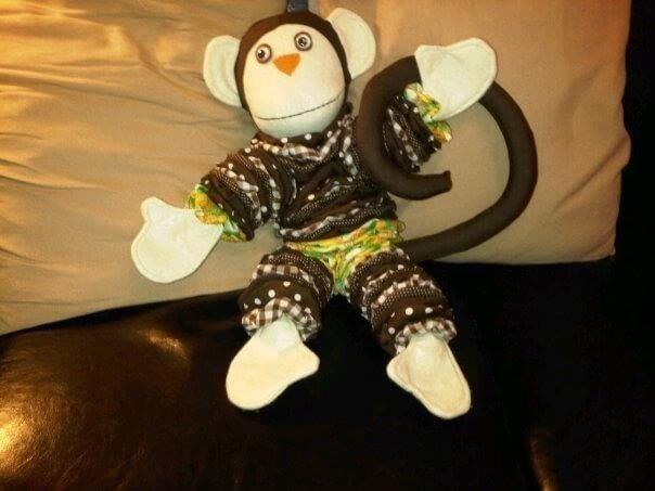 Suffolk Puff Monkey A Monkey Plushie Sewing On Cut Out