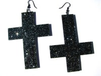 Sparkly Lucite Earrings  A Pair Of Cross Earrings ...