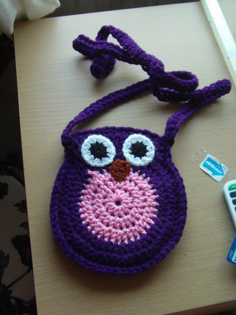 Crochet Owl Bag  An Animal Bag  Crochet on Cut Out  Keep  Creation by Claire J