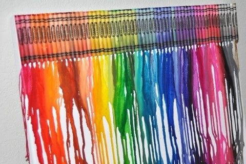 Completed Project: Crayon Melt Picture #1