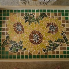 Sunflower Kitchen Accessories Nooks For Sale Mosaic Tray · A On Cut Out + Keep ...