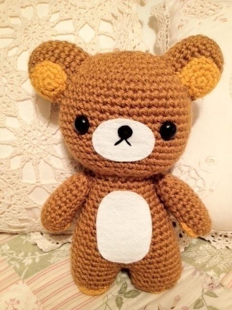 Amigurumi Rilakkuma  A Bear Plushie  Needlework Sewing