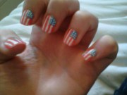 usa flag nails paint