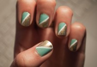 Half Triangle Nails  Patterned Nail Art  Nail Painting