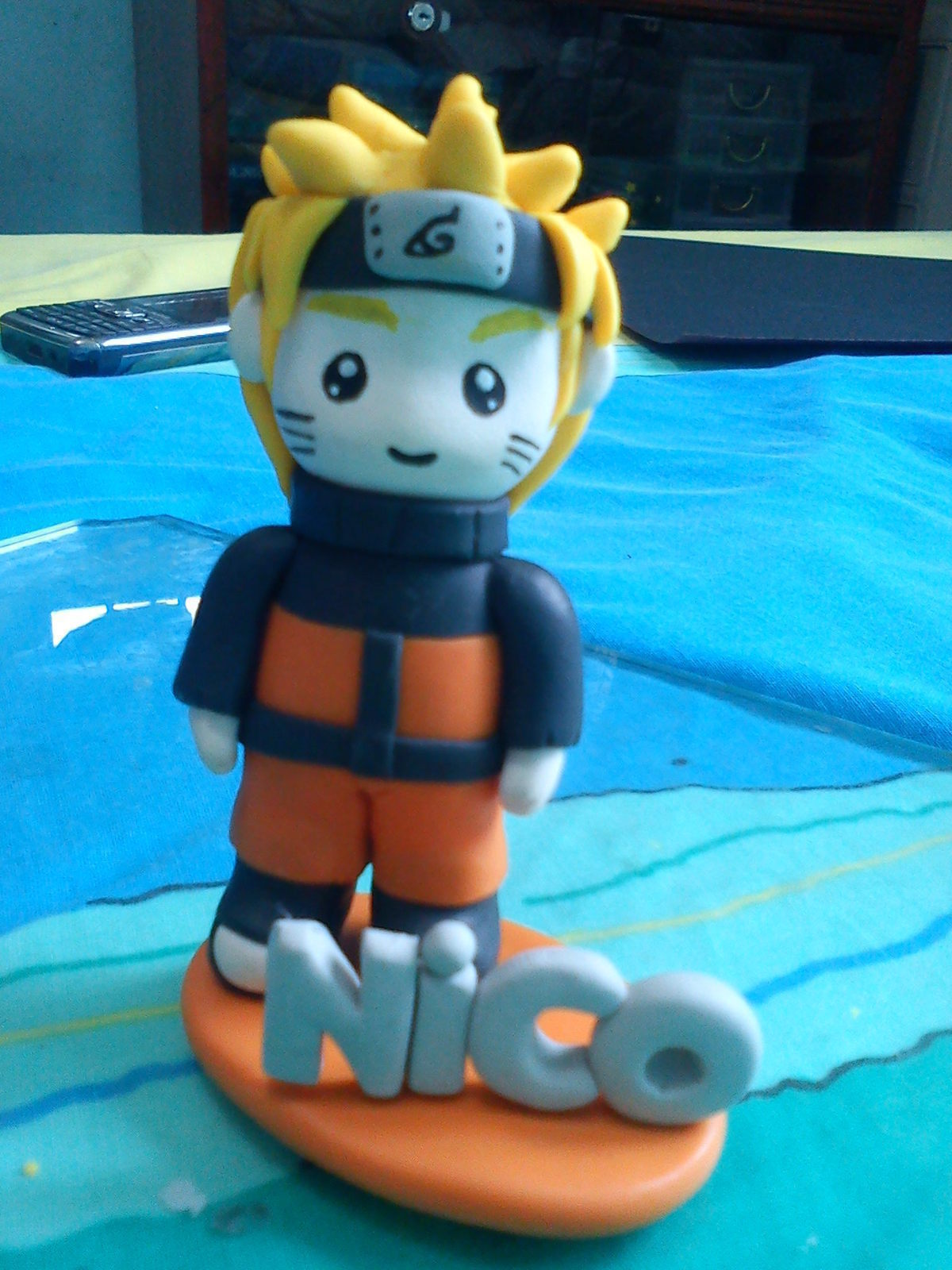 Chibi Naruto Fig A Clay Character Art On Cut Out