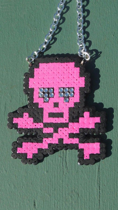 Awesome Perler Bead Creations  A Pair Of Pegboard Bead