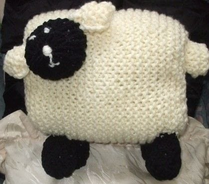 Sheep Pillow  How To Make A Shaped Cushion  Knitting on