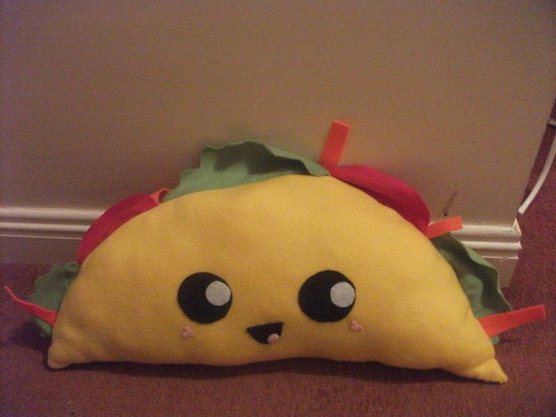 Taco Plushie  How To Make A Food Plushie  Sewing on Cut