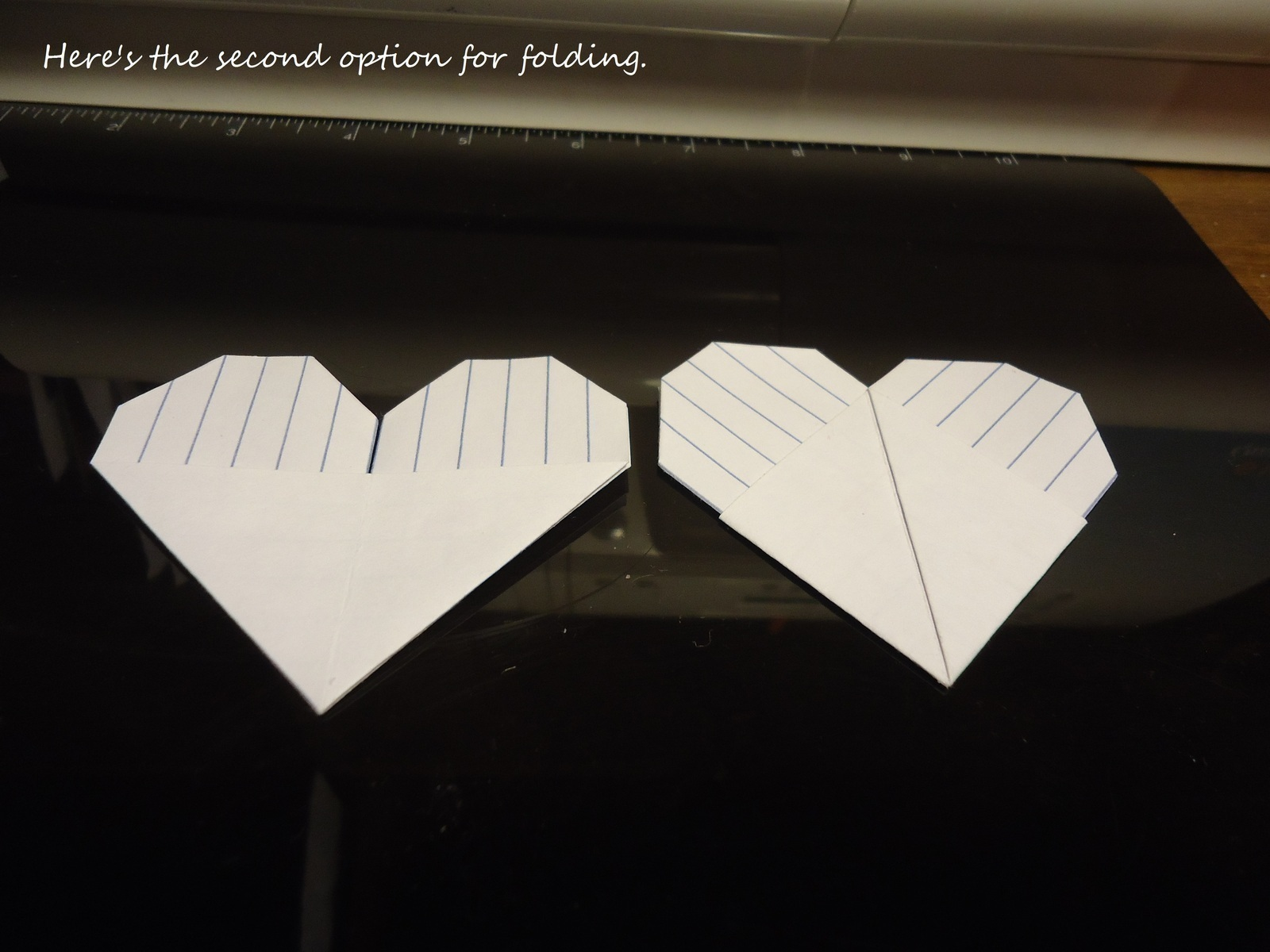 Origami Index Card Heart How To Fold An Origami Shape