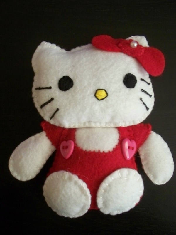 Felt Plushies & Pouches Cat Plushie Sewing And