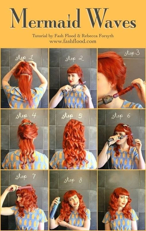 From victory rolls to finger waves, the seven retro hair tutorials you don't want to miss. Mermaid Waves · How To Style A Curly Hairstyle / Wavy
